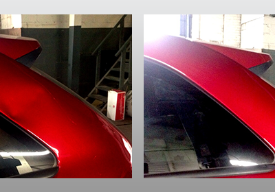 Red Rear Hatch